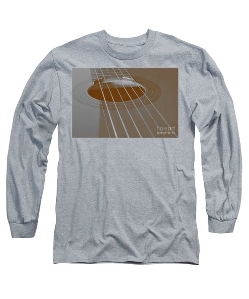 Six Guitar Strings Long Sleeve T-Shirt by Angelo DeVal