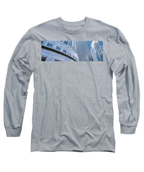Skyscrapers In A City, Canary Wharf Long Sleeve T-Shirt by Panoramic Images