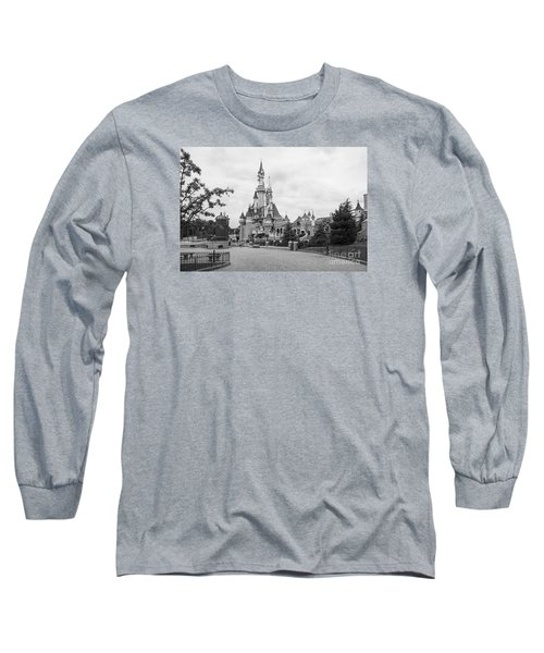 Sleeping Beauty Castle Long Sleeve T-Shirt by Roger Lighterness