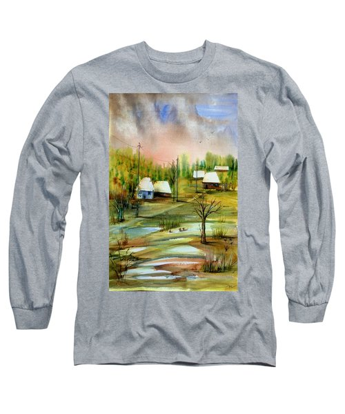 Sleepy Village Long Sleeve T-Shirt