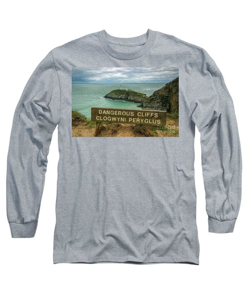 South Stack Lighthouse Long Sleeve T-Shirt by Ian Mitchell