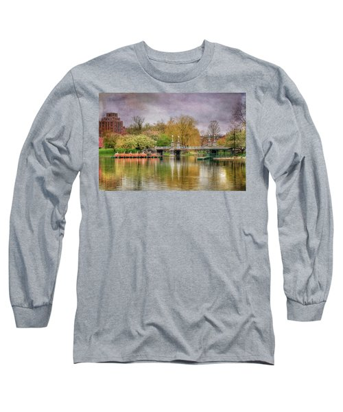 Long Sleeve T-Shirt featuring the photograph Spring In The Boston Public Garden by Joann Vitali