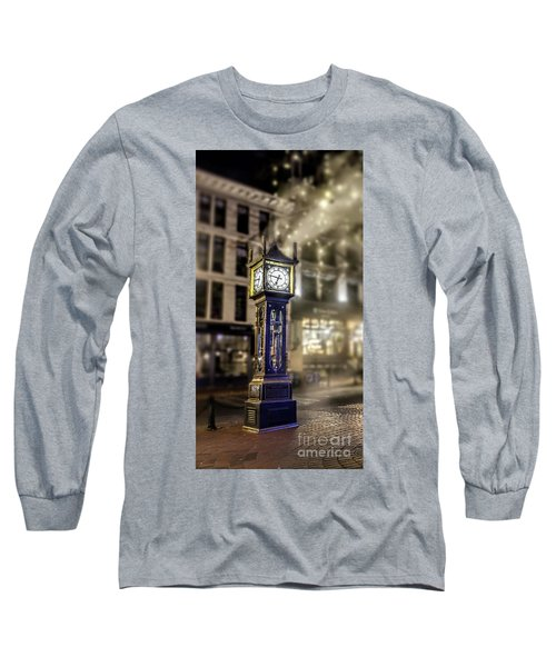 Long Sleeve T-Shirt featuring the photograph Steam Clock by Jim  Hatch