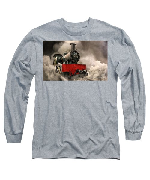 Long Sleeve T-Shirt featuring the photograph Steam Engine by Charuhas Images