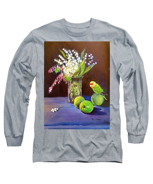 Still Life Long Sleeve T-Shirt by Rose Wang