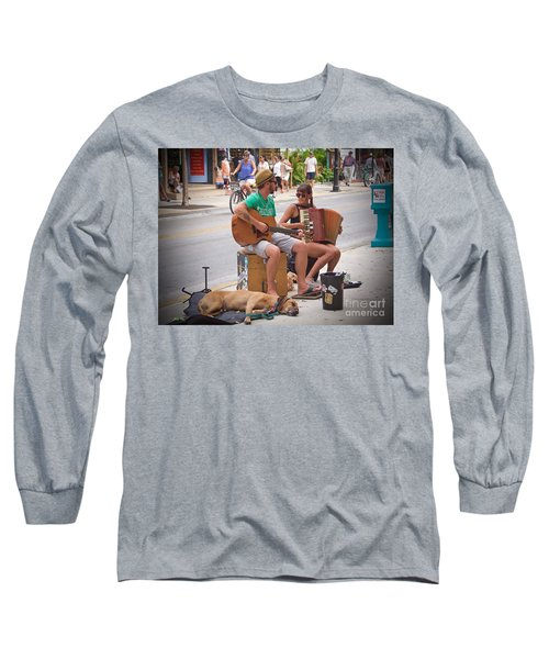 Street Melody Long Sleeve T-Shirt by Judy Kay
