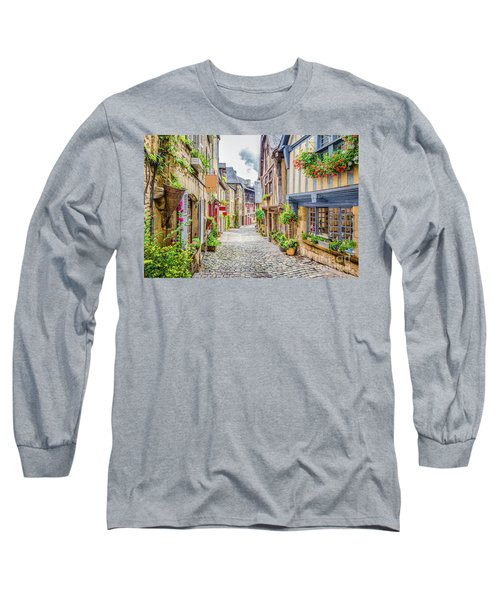 Streets Of Dinan Long Sleeve T-Shirt by JR Photography