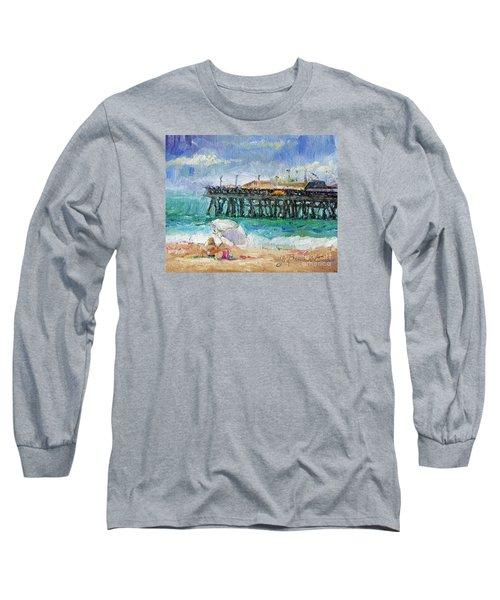 Long Sleeve T-Shirt featuring the painting Summer Sun by Jennifer Beaudet
