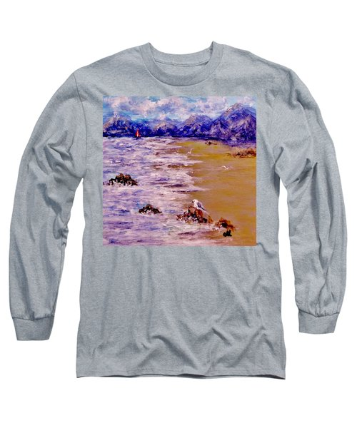 Long Sleeve T-Shirt featuring the painting Summer Whispers.. by Cristina Mihailescu