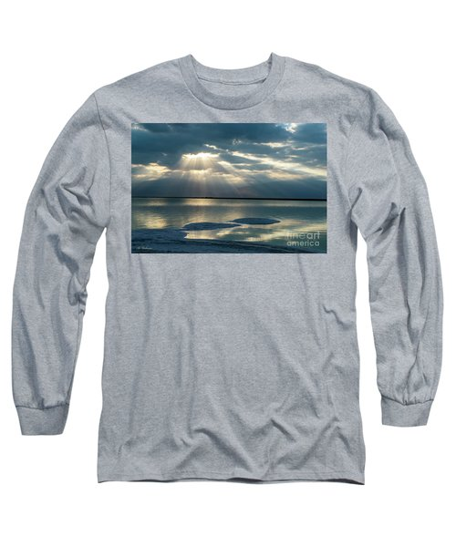 Long Sleeve T-Shirt featuring the photograph Sunrise At The Dead Sea by Arik Baltinester