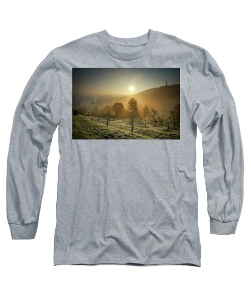 Sunrise From Petrin Yard In Prague, Czech Republic Long Sleeve T-Shirt