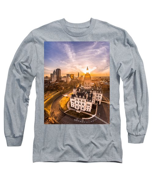 Sunrise In Hartford, Connecticut Long Sleeve T-Shirt by Petr Hejl