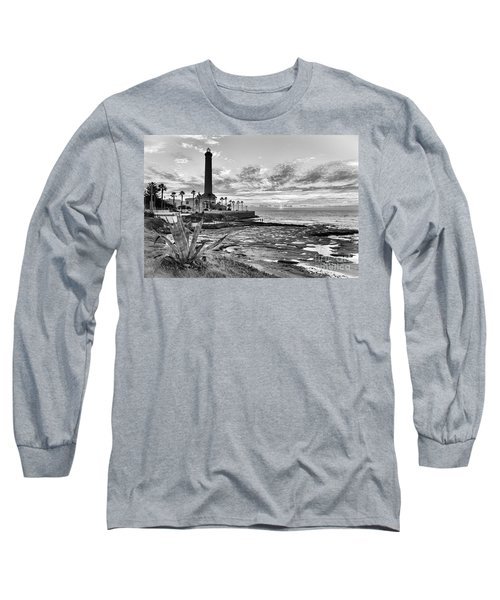Long Sleeve T-Shirt featuring the photograph Sunset At Chipiona Lighthouse Cadiz Spain by Pablo Avanzini