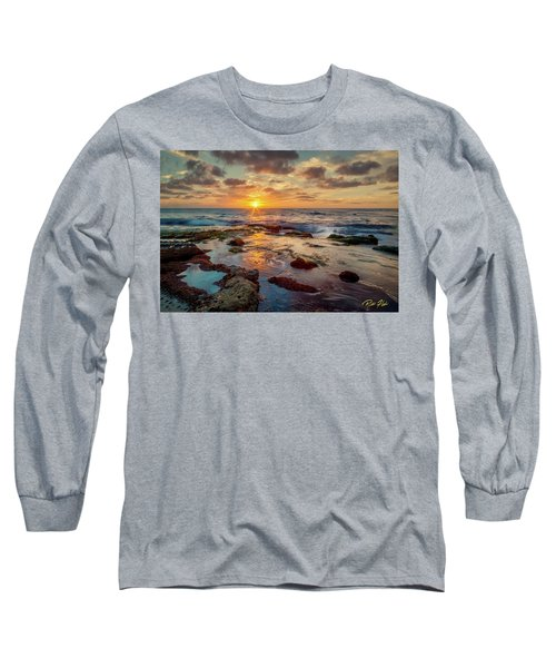 Long Sleeve T-Shirt featuring the photograph Sunset At La Jolla  by Rikk Flohr