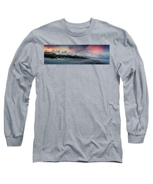 Sunset Emerald Isle Crystal Coast Long Sleeve T-Shirt