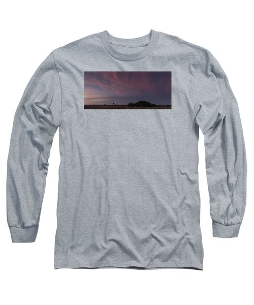 Sunset Over The Wetlands Long Sleeve T-Shirt