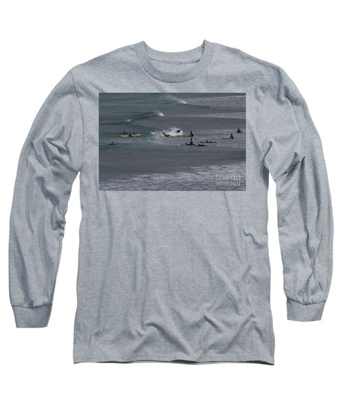 Photographs Of Cornwall Surfers At Fistral Long Sleeve T-Shirt