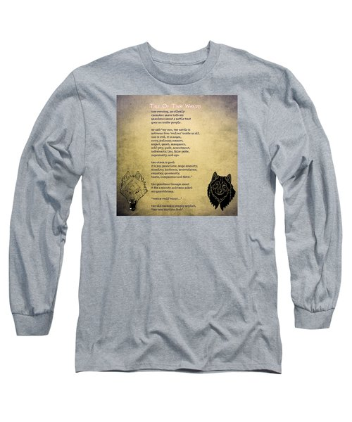 Tale Of Two Wolves - Art Of Stories Long Sleeve T-Shirt