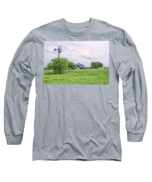 Texas Windmill Long Sleeve T-Shirt