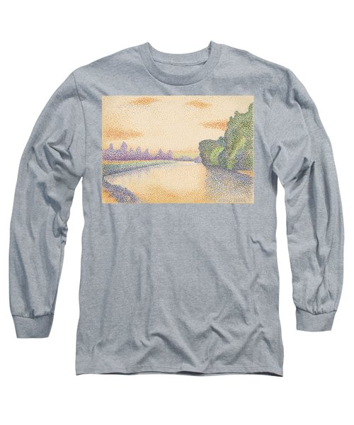 The Banks Of The Marne At Dawn Long Sleeve T-Shirt