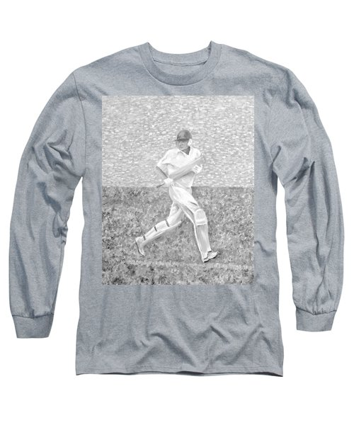 Long Sleeve T-Shirt featuring the mixed media The Batsman by Elizabeth Lock