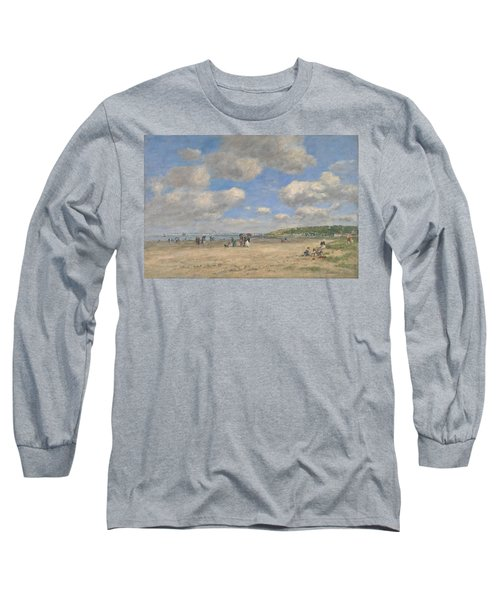The Beach At Tourgeville Les Sablons Long Sleeve T-Shirt