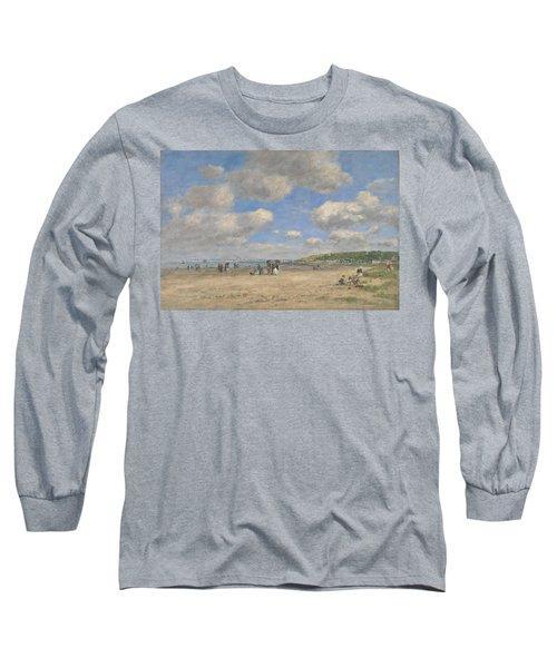The Beach At Tourgeville Les Sablons Long Sleeve T-Shirt