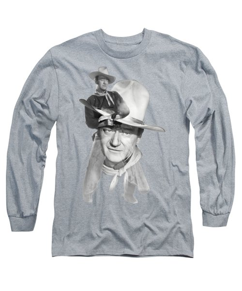 The Duke John Wayne Long Sleeve T-Shirt by Diana Van
