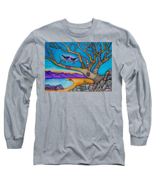 The Kiss And Love Is All There Is Long Sleeve T-Shirt by Lori Miller