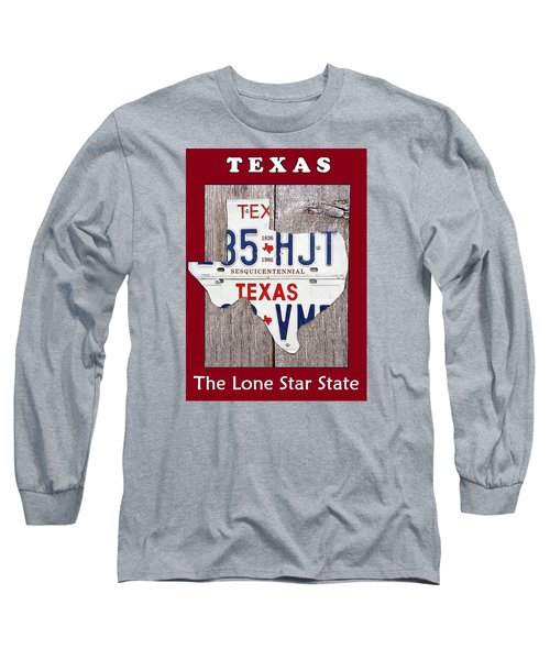 Long Sleeve T-Shirt featuring the digital art The Lone Star State by Suzanne Theis