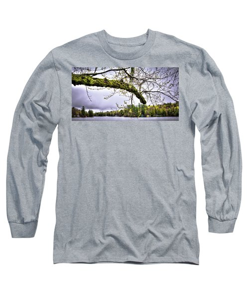 The Pond In Old Forge Long Sleeve T-Shirt by David Patterson