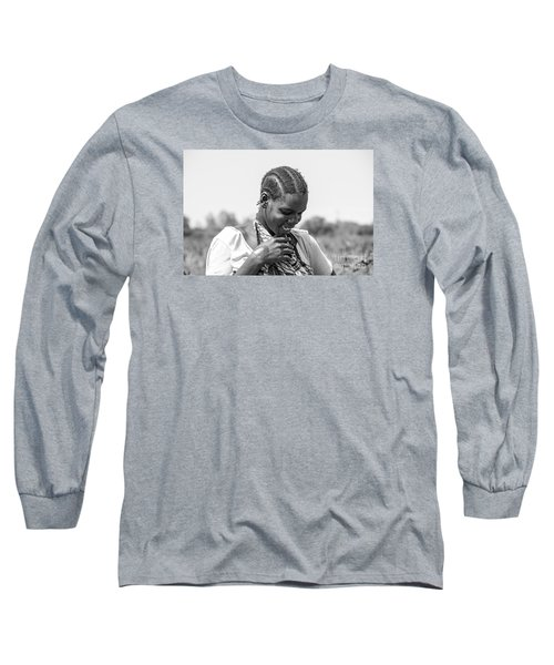 Long Sleeve T-Shirt featuring the photograph The Shy One by Pravine Chester