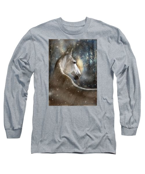 Long Sleeve T-Shirt featuring the digital art The Spirit Of Winter by Dorota Kudyba