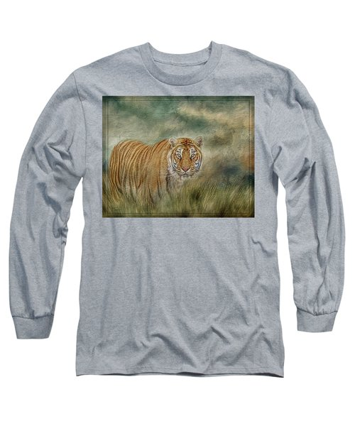 Tiger In The Grass Long Sleeve T-Shirt