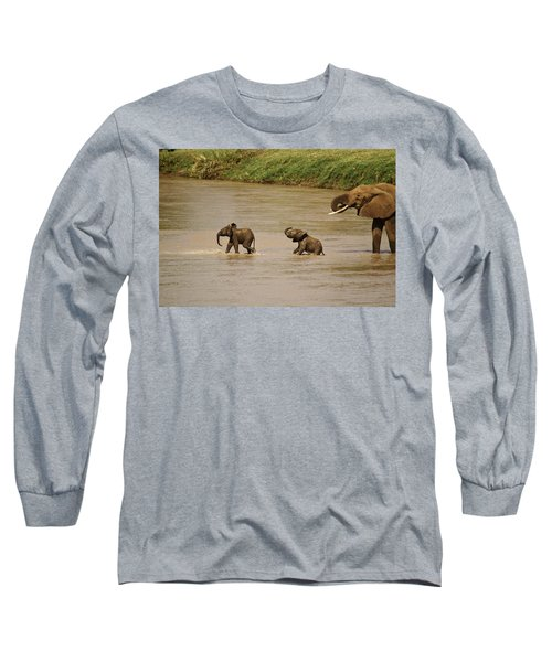 Tiny Elephants Long Sleeve T-Shirt