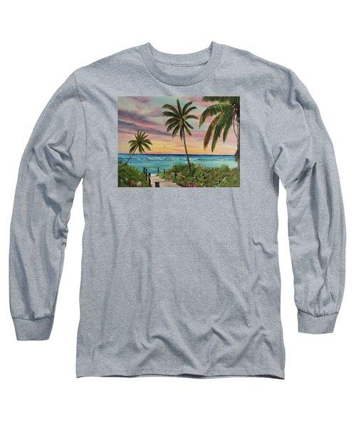 Tropical Paradise Long Sleeve T-Shirt by Lloyd Dobson