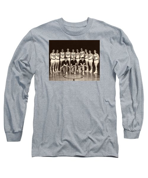 University Of Michigan Basketball Team 1960-61 Long Sleeve T-Shirt by Mountain Dreams