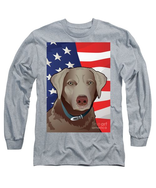 Usa Silver Lab Long Sleeve T-Shirt