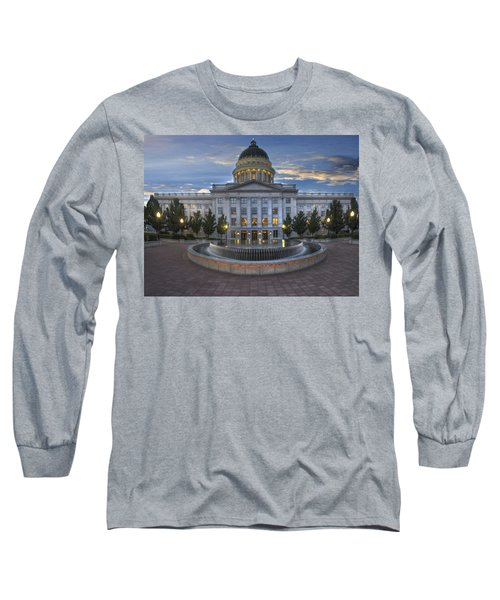 Utah State Capitol Building Long Sleeve T-Shirt by Utah Images