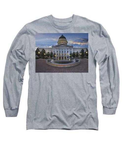 Utah State Capitol Building Long Sleeve T-Shirt