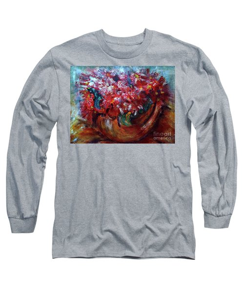 Long Sleeve T-Shirt featuring the painting Vase by Jasna Dragun