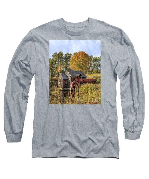 Long Sleeve T-Shirt featuring the photograph Vermont Grist Mill by Edward Fielding