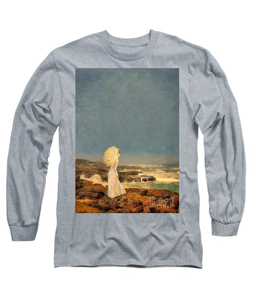 Victorian Lady By The Sea Long Sleeve T-Shirt