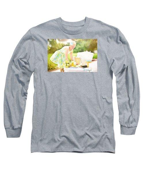 Vintage Val Iced Tea Time Long Sleeve T-Shirt