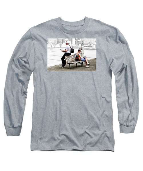 Waiting Long Sleeve T-Shirt by Linda Phelps