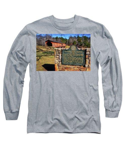 Watson Mill Covered Bridge 010 Long Sleeve T-Shirt by George Bostian