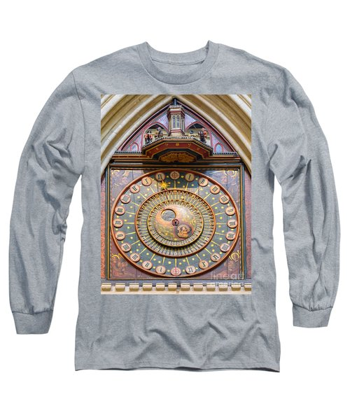 Wells Cathedral Clock Long Sleeve T-Shirt by Colin Rayner