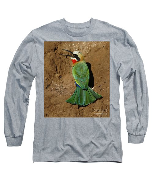White Fronted Bee-eater Long Sleeve T-Shirt