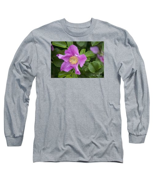 Long Sleeve T-Shirt featuring the photograph Wild Rose by Alana Ranney