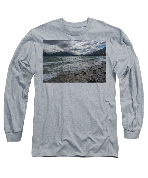 Long Sleeve T-Shirt featuring the photograph Windy Day On Lake Wakatipu by Gary Eason
